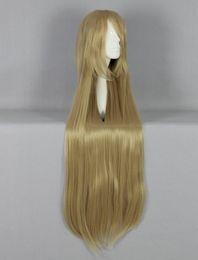 Descuento cintas de la peluca del pelo Pelucas de pelo sintéticas MCOSER alta calidad 100 cm de largo recto peluca cosplay peluca peluca peluca punk