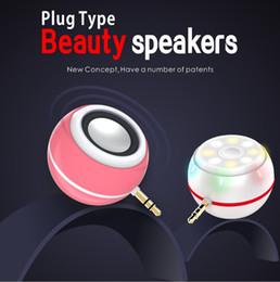 Anillo de luz led de la cámara en venta-3.5mm altavoz de audio LED Selfie relleno de altavoces de luz 2 en 1 LED de luz belleza de la cámara de flash anillo T3 altavoz auxiliar para iPhone