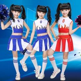 Wholesale Children Academic Dress Girl School Uniforms Set Kid Girls Student Jazz Costumes Boy Suit Girl Cheerleader Suits Girl Cheerleading Costume