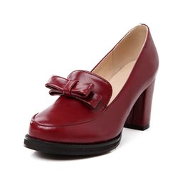 2017 Mode Peep Toe Noble Femmes Pompes authentiques Sandales en cuir épais High Heel Simple Design Plain Rome Chaussures Printemps Été femmes élégantes supplier plain shoes heels à partir de chaussures simples talons fournisseurs