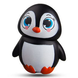 Kawaii Jumbo animal squishies Penguin Squishy Slow Rising Sweet Scented Vent Charms Kid Toy Hand Toy Stress Relief Toy