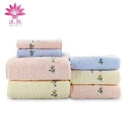 muchun Brand Little Flower Towel 100% Nature Cotton Fabric Soft Towel Absorbent Washrag washcloth Textiles Shower Cleaning Towel