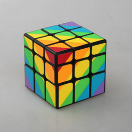 2017Newest 3 x 3 x 3 unequal magic cube classic toy puzzle magic game 56mm cast coated cubo puzzle Pyraminx Tetrahedron Triangular Gear cube