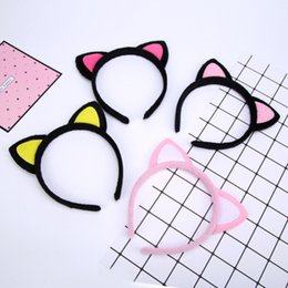 Cute cat ears headband card child adult hair accessories wholesale plush headband hairpin FS10