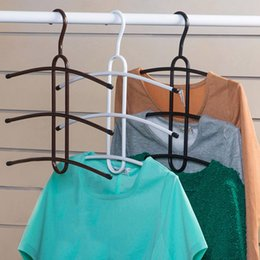 Free Shipping Iron Hangers For Clothes Multilayer Magic Fishbone Storage Closet Organizer Anti-Skid Clothes Drying Rack JE0145