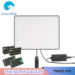 Wholesale New Arrival YONGNUO YN600 Air Led Video Light Panel Bi color Photography Studio Lighting for DSLR and Camcorder as YN600 II