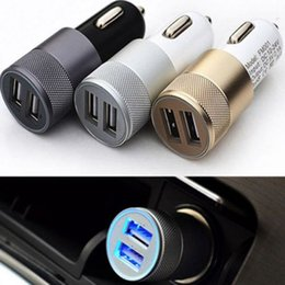 In Car Charger 5V 3.1A Quick Fast Charge Alloy Dual 2USB Port Cigarette Lighter Adapter Car Voltage Diagnostic for Iphone7 6S Samsung HTC LG