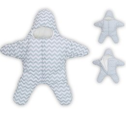 Wholesale Starfish 100% Wholesale Cotton Baby Sleeping Bag Striped Warm Children Swaddles Baby Quilt