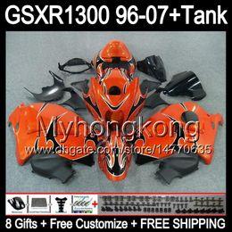 8gift Pour SUZUKI Hayabusa GSXR1300 96 97 98 99 00 01 orange brillant 13MY36 GSXR 1300 GSX-R1300 GSX R1300 02 03 04 05 06 07 TOP noir Carénage à partir de 98 gsxr carénage orange noir fabricateur