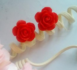 Wholesale Little Guy still vintage roses earrings lacquer carving national wind earrings red rose earrings