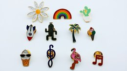 11pcs mixed fashion, pin accessories, provide production.Used for cowboy hexagonal, cap and other decorative brooches