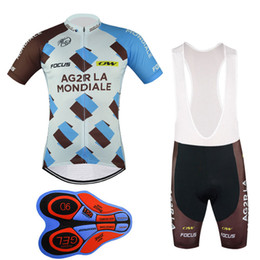 2017 New AG2R team pro ale cycling jersey bib shorts set fluor summer Sportswear Mountain Bike clothing Ropa Ciclismo MTB Bicycle Wear DBB01