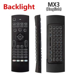 Wholesale MX3 Backlight Wireless Keyboard G Wireless Remote Control IR Learning Air Mouse Backlit For Android TV Box PC A95X X96 TX3 Pro