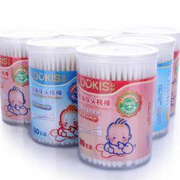 Wholesale Baby Cotton Double End Swab Thin Stick Toddler Cotton Swab Infant Ear Nose Clean Cotton Buds