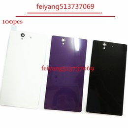 100pcs A quality for Sony Z L36h Z1 L39h Z2 D6502 Full Battery Back Housing Cover