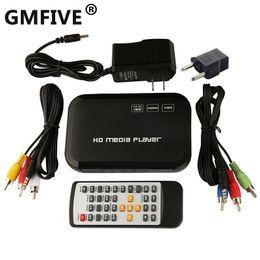 Wholesale GMFIVE New Digital USB Full HD P HDD Media Player HDMI VGA SD MMC Support DIVX AVI RMVB MP4 H FLV MKV Music Movie