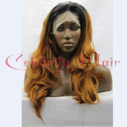 Wholesale Super long wavy blonde b inch density picture blonde ombre wig glueless baby hair for african american woman