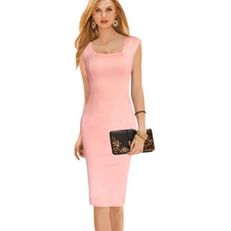Womens Work Dress Party Sexy Bodycon Sleeveless Office Lady Evening Dresses Women Pencil Dress Factory Outlet 406SJ