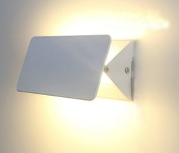 Wholesale 5pcs Simple modern LED aluminum wall lamp square adjustable angle indoor balcony aisle bedroom bedroom wall washer led UP and down light