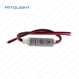 Mini Dimmer Controller 12V With On Off Switch For LED Strip Lights 5050 3528 5630