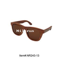 natural brown lenses red wood sunglasses