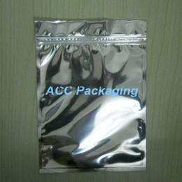 Descuento bolsas de embalaje reutilizables 14 * 20cm Aluminum Foil / Clear Válvula Resellable Zipper Bolsa de plástico de embalaje Zip Lock Ziplock bolsa auto-sello de almacenamiento Bolsa Polybag