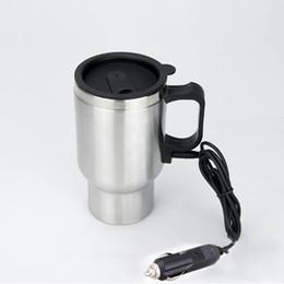 65 Degree Stainless Steel Car Mugs Heated Heat Preservation Bilayer Insulation 450ml Car Tumbler Water Bottles