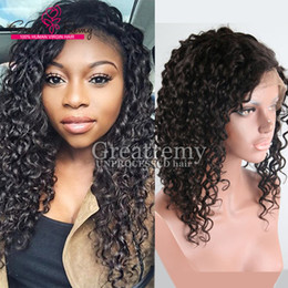 Peruvian Half Hand Tied Human Hair Wigs for African American Women Deep Curly Wave remy Hair Wigs 130% to 150% Density