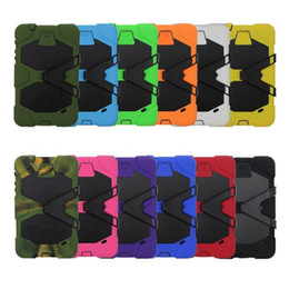 Hybrid Armor Tablet Case For iPad 2 3 4 5 Mini Samsung Galaxy Tab 3 4 P3200 P5200 T330 T230 Cover with holder