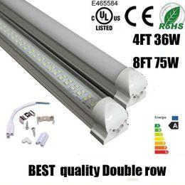 Wholesale best quality T8 Integrated Double row led tube m led ft w w led ft w SMD2835 led tubes Light led lighting fluorescent