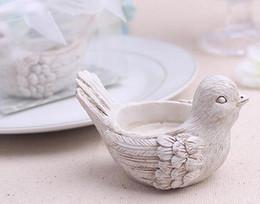 Velas de cumpleaños barcos en Línea-La boda libre del envío suministra el regalo de cumpleaños casero creativo de la palmatoria del pájaro de la antigüedad de la resina que casa la base decorativa LLFA de la vela