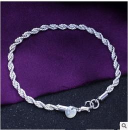 2017 lien pour perles New Fashion Longueur 20cm Rayon 4MM en acier inoxydable bracelet en perles Link For DIY Charm Bracelets chaîne 925 argent plaqué bijoux lien pour perles autorisation