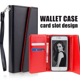 Wallet Case PU Leather Cases For iPhone x 8 7 6 Plus Case Pouch With Card Slot Photo Frame Opp Bag