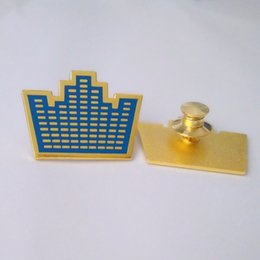 Hot Sale Customized Metal New Logo Badges  Metal Button Pin Tin Police Military Emblem Enamel Medal Badge customer pin