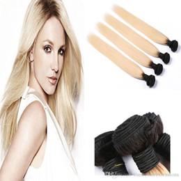 Ombre T1B  613 Bundles Brazilian Best Quality Virgin Human Hair Extensions 4pcs Women's Fashion Grace Hair Double Weft for party