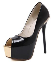 Descuento las mujeres atractivas de oro Talón de la plataforma de las mujeres el Rhinestone estupendo alto jadea los zapatos atractivos del partido del talón de las mujeres de las bombas del dedo del pie del pío del oro de las sandalias Sandalias Escarpins Femme