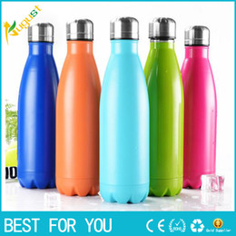 Wholesale 10 color thermos vacuum flask Expansion Bottle of coke bottle coffer Sport cup kettle flask bottle botella
