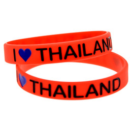Wholesale Shipping 100PCS Lot I Love Thailand Silicon Bracelet Fashion Wristband Perfect To Use InAdvertisement Promotion Gift