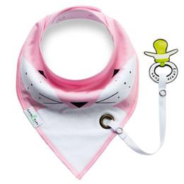 Wholesale Fashion Newborn Baby Bib With Clip Baby Care Burp Cloth Cotton Double Layer Baby Saliva Towel Double Wear Triangle Bib