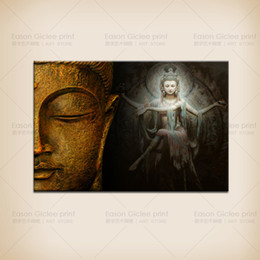 Fashion Cheap Large Buddha Painting Canvas Print Wall Art Canvas Decorative Painting Wall Picture--Wall Pictures for Living Room