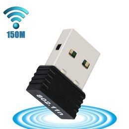 Entrega gratuita en el exterior del almacén Adaptador inalámbrico Nano 150M USB Wifi IEEE 802.11n g b Adaptador Mini Antena Tarjeta de red Chipset MT7601