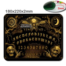 Wholesale 180 mm mm Custom Ouija board Mouse pad personalized gaming Large laptop Notbook Computer pad to mouse gamer play