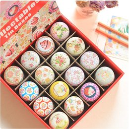 48pcs lot floral design mini storage tin box organizer pillbox jewelry container girl favor household lovely iron box