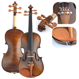 Wholesale High Quality Handmade Wood Tiger Violin Practice Professional Grading Test Jujube Wood Spruce Wood Violin