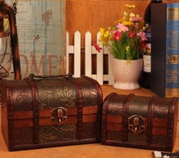 Wholesale Factory directly hot sell shabby trinket box Mini wooden antique chest box without lock