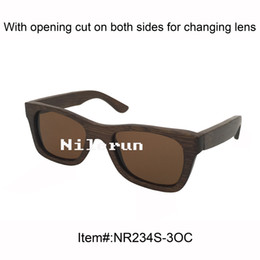 hot sale unisex brown polarized lenses handmade pure bamboo full frame sunglasses