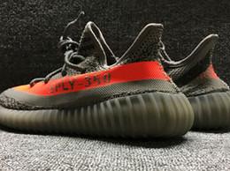 Wholesale Big Size us12 us13 Sply V2 Beluga Grey Orange Boost With Box Keychain Socks Glow Kanye West Running Shoes