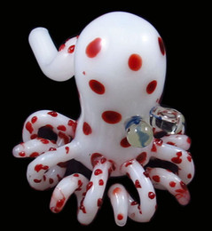 Giant Glass Octopus bong pipe thick heady smoke smoking sppon for dry herb pipes free shipping