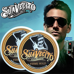 Wholesale 113ml Suavecito Pomade Hair Waxes Strong Style Restoring Pomade Hair Gel Style Tools Firme Hold Big Skeleton Slicked Back Hair Oil Wax Mud