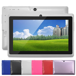Wholesale Cheap 8gb Usb - Q88 7 Inch Android 4.4 Tablet PC ALLwinner A33 Quade Core Tablet Dual Camera 8GB 512MB Capacitive Cheap Tablets